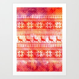 Reindeer Sweater Color Option Art Print