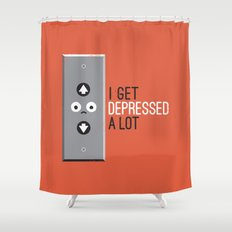 Feeling Down Shower Curtain