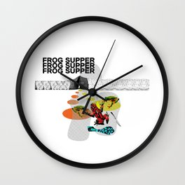 Frog Supper Wall Clock