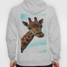 Hello up there! Fun Giraffe With Nerdy Expression Hoody