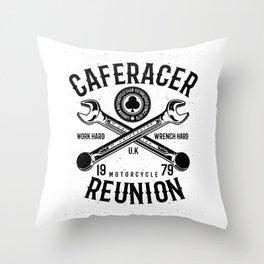 Cafe Racer Reunion Throw Pillow