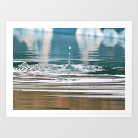 Droplet Art Print