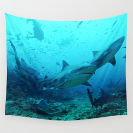 Bull Sharks Wall Tapestry