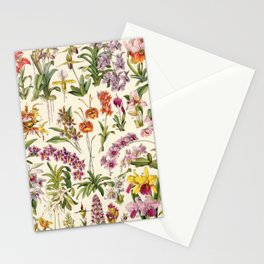 Adolphe Millot - Orchids - French vintage botanical illustration Stationery Cards