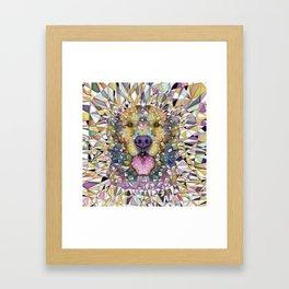 rainbow dog Framed Art Print
