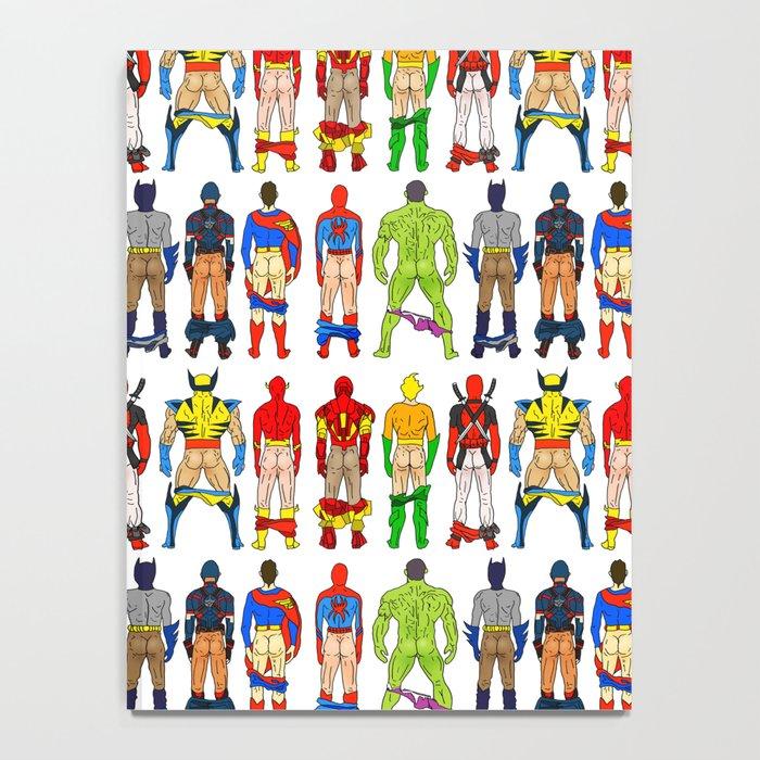 Superhero Butts Notebook