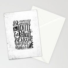BE GENTLE BE PATIENT Stationery Cards