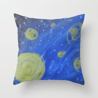fireflies Throw Pillows featuring Fireflies by Angelina Yvette
