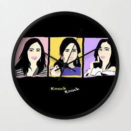 Knock Knock! Mina Version Wall Clock