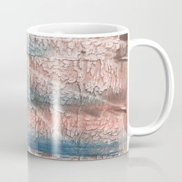 Brown blue streaked abstract Coffee Mug