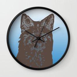 Fox Woodcut Wall Clock