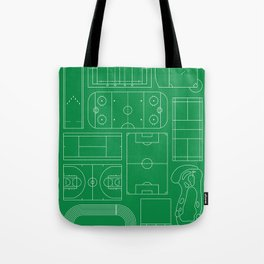 Sport Courts Pattern Art Tote Bag