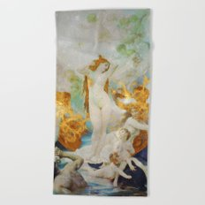 Birth of Venus Beach Towel