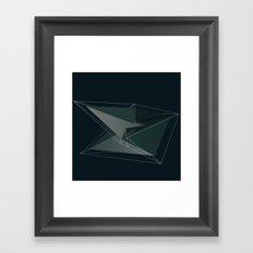 3d shapes Framed Art Print