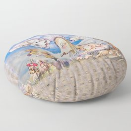 Jester B's urge for Self-realization Floor Pillow