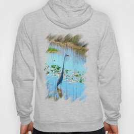 Blue Heron in the Glades Hoody