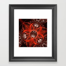 Textures, scratches and patterns abstract Framed Art Print