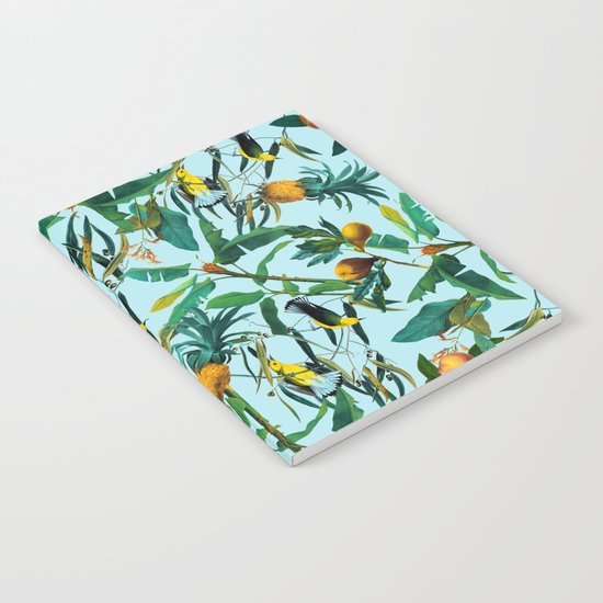 Fruit and Birds Pattern Notebook