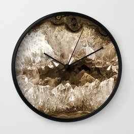 Crystal Mocha Wall Clock