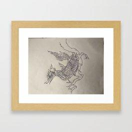Op eieren lopen Framed Art Print