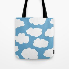 Blue Sky and Fluffy White Clouds Tote Bag