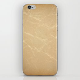 Yellowed page of paper iPhone Skin