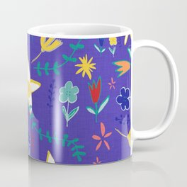 Floral The Tortoise and the Hare is one of Aesop Fables blue Coffee Mug