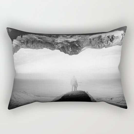 Black and White Ghost of Isolation Rectangular Pillow