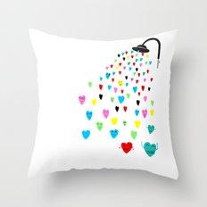 Love shower Throw Pillow