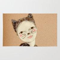 kiki Area & Throw Rugs featuring Kiki Kitty by Irena Sophia