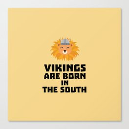 Vikings are born in the South T-Shirt Dlbx6 Canvas Print