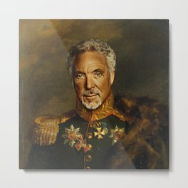 Sir Tom Jones - replaceface Metal Print