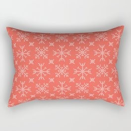 Embroidery Snowflake Stitches Seamless Vector Pattern. Cross Stitch Ice I Rectangular Pillow
