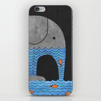 fish iPhone & iPod Skins featuring Thirsty Elephant  by Terry Fan