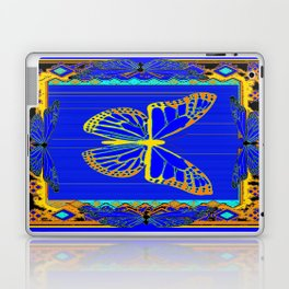 Lapis Blue & Gold Monarch Western Art design Laptop & iPad Skin