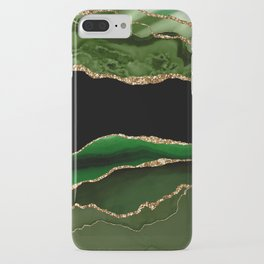 Emerald Marble Glamour Landscapes iPhone Case
