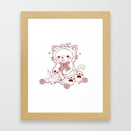 The Adventures of Bear and Baby Bear-Cats Framed Art Print