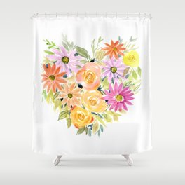 Floral Heart 1 Shower Curtain