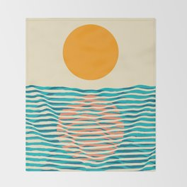 Ocean current Throw Blanket