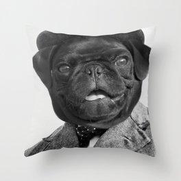 Sir Winston Pug Churchill Throw Pillow