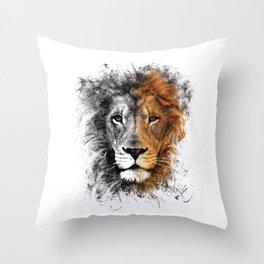 Lion Face Throw Pillow