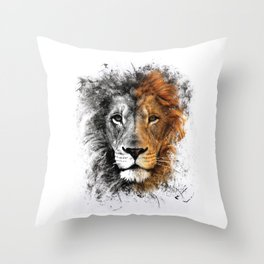 Two Face Lion  Throw Pillow