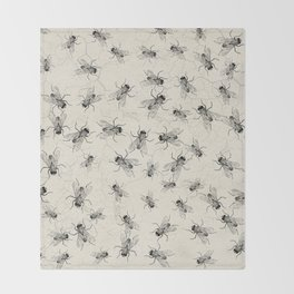 House Fly chaos Throw Blanket