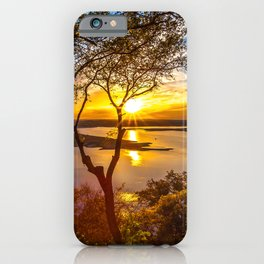Wallpaper Texas USA Lake Travis Nature Sky Scenery iPhone Case