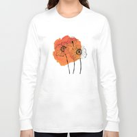poppies Long Sleeve T-shirts featuring poppies by morgan kendall