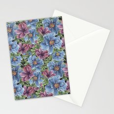 Hibiscus Flowers on Chalkboard Stationery Cards