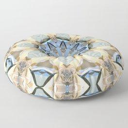 Blue And Gold Mandala Floor Pillow