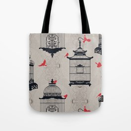 Kiss Empty Brid Cages Tote Bag