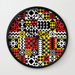 Geo Pattern Wall Clock