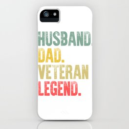 Funny Men Vintage T Shirt Husband Dad Veteran Legend Retro iPhone Case